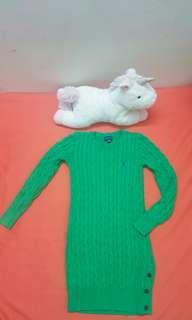 (AUTHENTIC) Ralph Lauren Green Knitted Dress