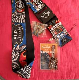 Hard Rock Cafe Penang 2015 Pinfest Lanyard & Pin (NEW UNUSED)