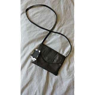 Crossbody Black Leather Bag