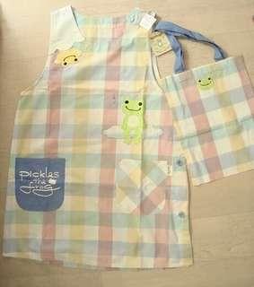 全新日本品牌Pickle the frog 圍裙連袋仔 (b) #MTRmk