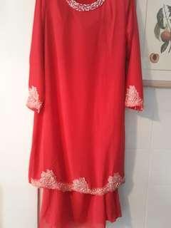Baju Kurung femina size 42 red