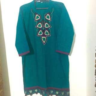 Kurti Blouse (emerald green) #CNY888