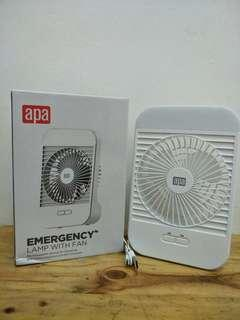 Emergengy Lamp with Fan