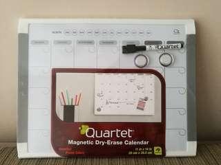 Magnetic dry erased calendar (white board calendar)