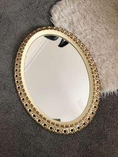 Beautiful Gold Filigree Oval Mirror
