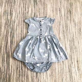 Carters Hearts Denim Dress (18M)