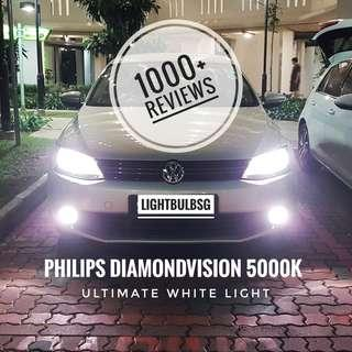 White fog light bulb for cars. Philips diamondvision ultimate white light. Installation inclusive. BMW. Mercedes Benz. Audi. Volkswagen. Mazda. Honda. Kia. Hyundai. Toyota. Subaru.
