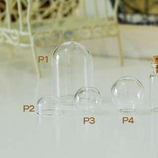 全新多款DIY玻璃瓶 球 GEL甲 美甲 手作手工藝 裝飾 球 頸鍊 可放閃石沙許願