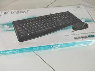 BnLogitech Keyboard with mouse Mk 120