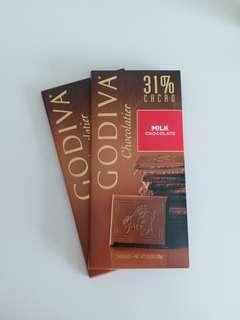Godiva 31%  Milk Chocolate Tablet 牛奶巧克力磚