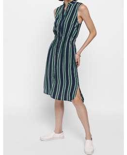 Love Bonito Melrese Striped Shirt Dress - XL