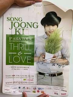 Song joong ki autographed poster