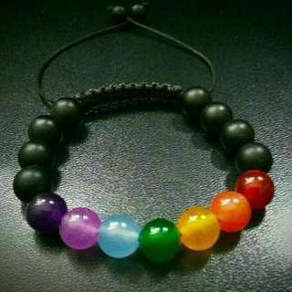 🚚 Chakras Shamballa Bracelet, 7 Seven Chakras Women and Men's Shamballa, Gemstones Shamballa Macrame Adjustable Bracelet