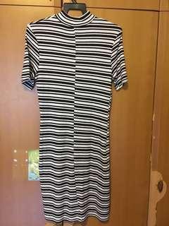 Cotton On - stripped dress, L