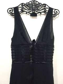 Brand New La Perla Sexy Black Long Night Gown Lingerie