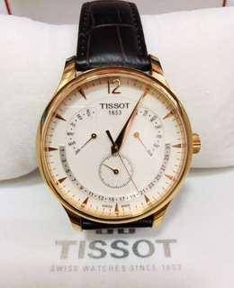 Tissot tradition Perpetual Calendar Rose gold watch(W0621)