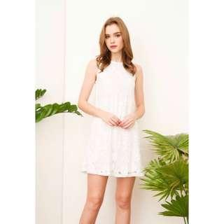• BNWT || TSW clary lace trapeze dress in white