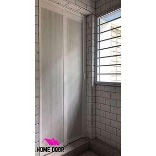 Slide & Swing Toilet Door for HDB & BTO