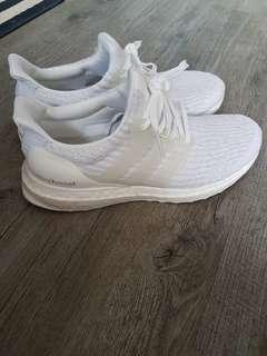 Adidas Ultraboost 3.0 Triple White - UK6