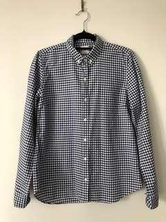 Gap button-up checked shirt