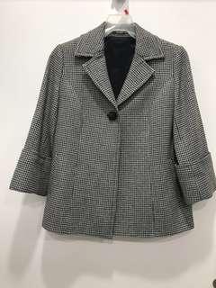 🚚 專櫃千鳥格紋羊毛外套