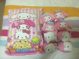 Mini Hello Kitty and Melody Pillow Bag