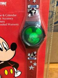 BNIP! Official Disney Licensed Mickey Mouse Glowing Watch