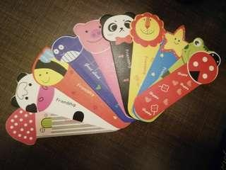 Set of 10pcs Colorful Cartoon Bookmarks