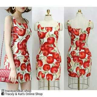 Korean Apple Print Dress