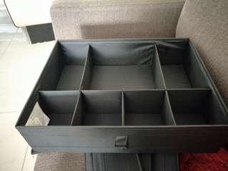 Ikea skubb box with compartment, black