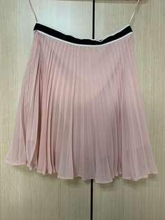 Pink Pleated Skirt Topshop