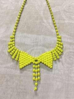 Ribbon Necklace in Neon