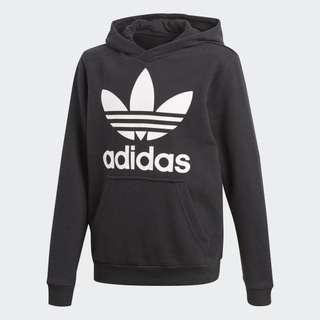 Black Adidas Trefoil Hoodie