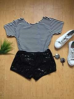 Stripe Top and Sparkle Short
