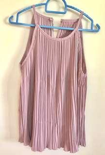 Chiffon pink sleeveless blouse (BRAND NEW)
