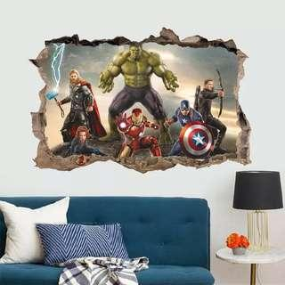 Superheroes Avengers wall decal / wall stickers/ hone deco