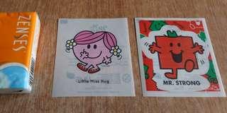 Mr Men & Little Miss貼紙 全圖$10