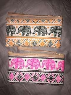 Elephant Print Pouch