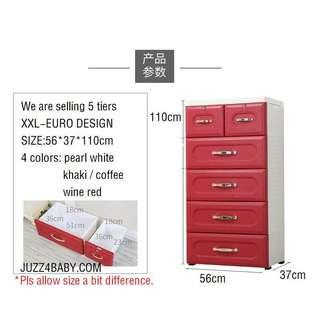 XXL 5 tiers EURO design cabinet drawers