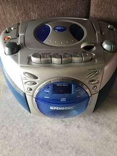 Pensonic portable CD player & cassette recorder