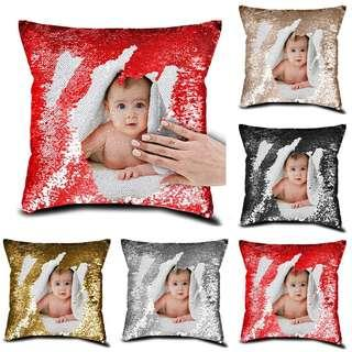 Customised Sequin Pillow Cushion Cover Home Decor
