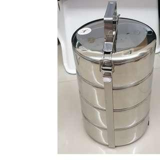 NEW Tingkat 18cm Stainless Steel 4-Tier