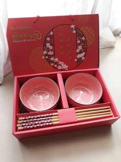 CNY Bowls and Chopsticks Gift set