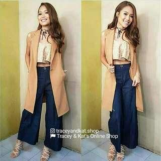 Long Sleeveless Blazer