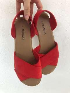 H&M red sandals