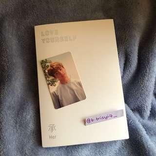 BTS LOVE YOURSELF: HER L VER ALBUM + JK PC