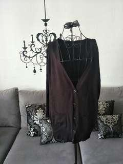 📣 PRE-CNY 📣3 FOR $20 MAILED! NEW!  Black Plus Size Long Cardigan