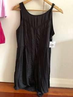 Volcom Black Sand Mini Dress Size 10/Small BNWT