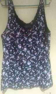 Floral basic tank top