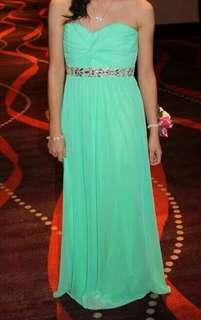 Teal Tube Long Gown